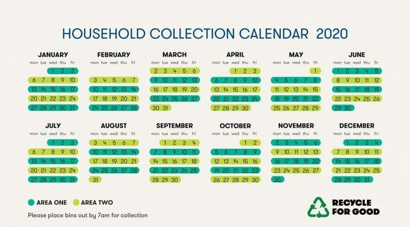 Household Collection Calendar 2020