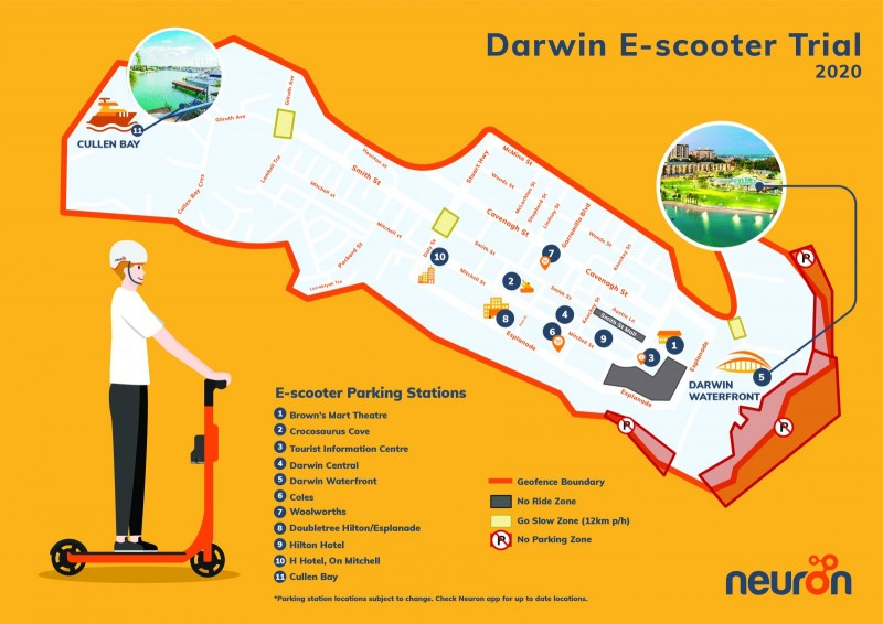 Neuron Parking Stations Map