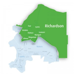 Richardson Ward Map Green