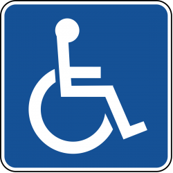 Accessible parking permit symbol