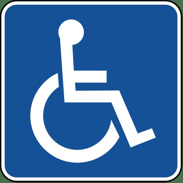 Accessible parking permit symbol