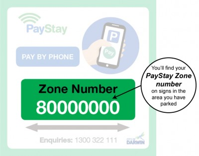 paystay sign and zone number information