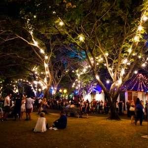 Darwin Festival Park Night shot with crowd