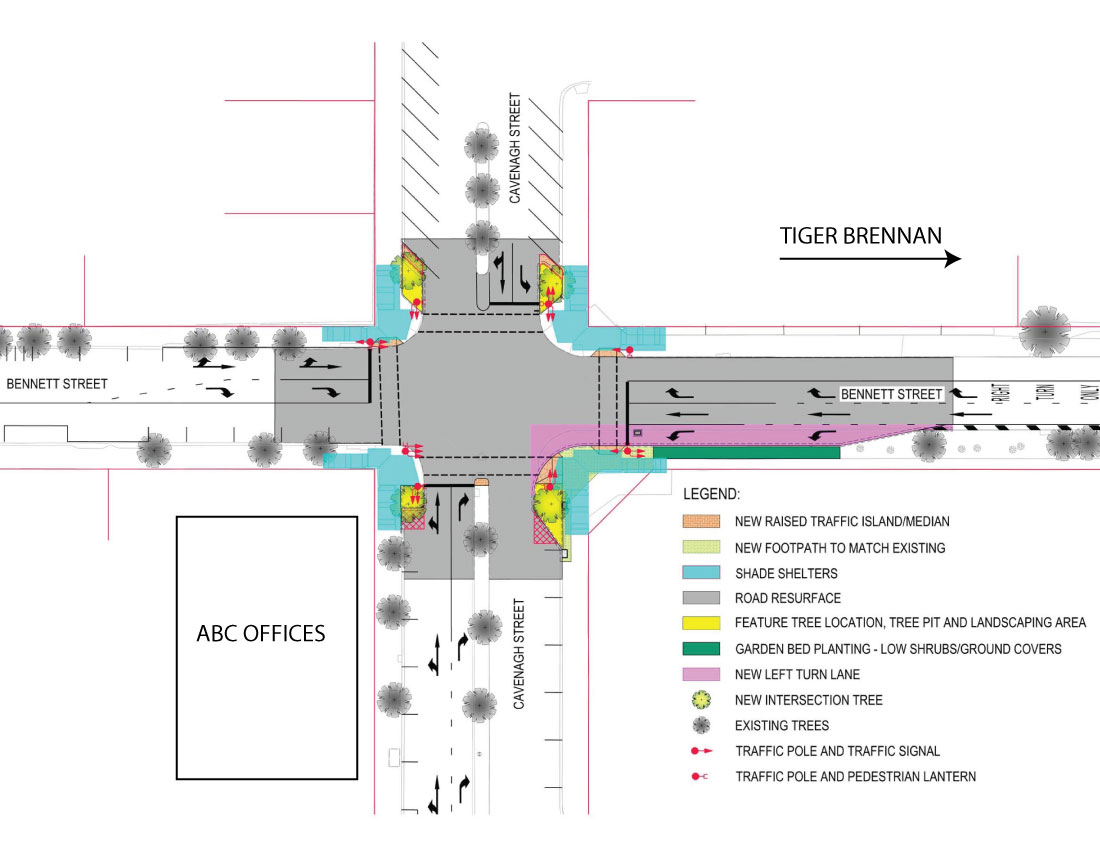 Cavenagh and Bennett St Intersection Upgrade | City of Darwin ...